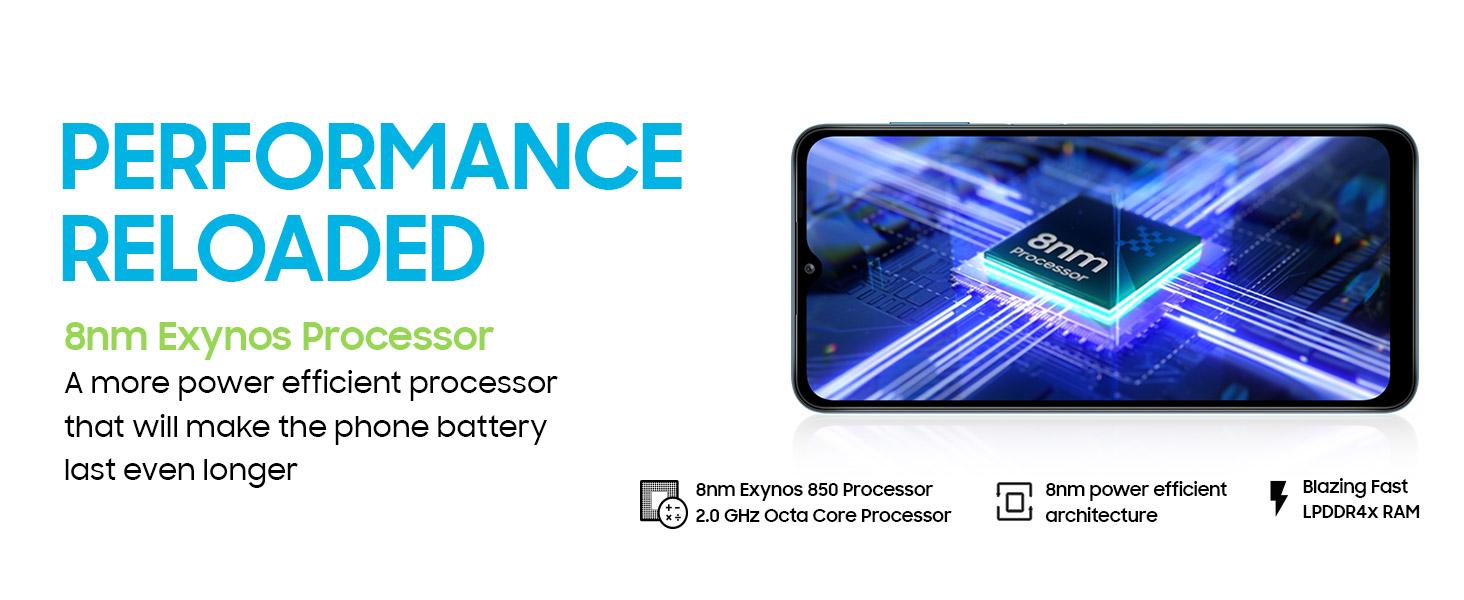 Samsung Galaxy M12 (Blue,4GB RAM, 64GB Storage) 6000 mAh